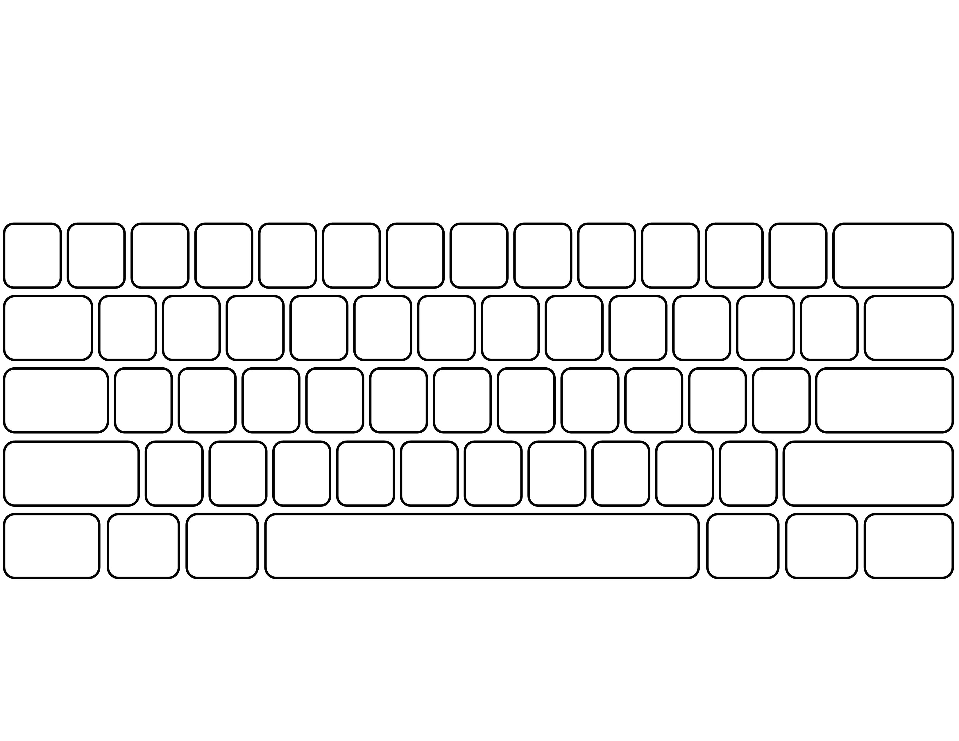 Blank Keyboard Template