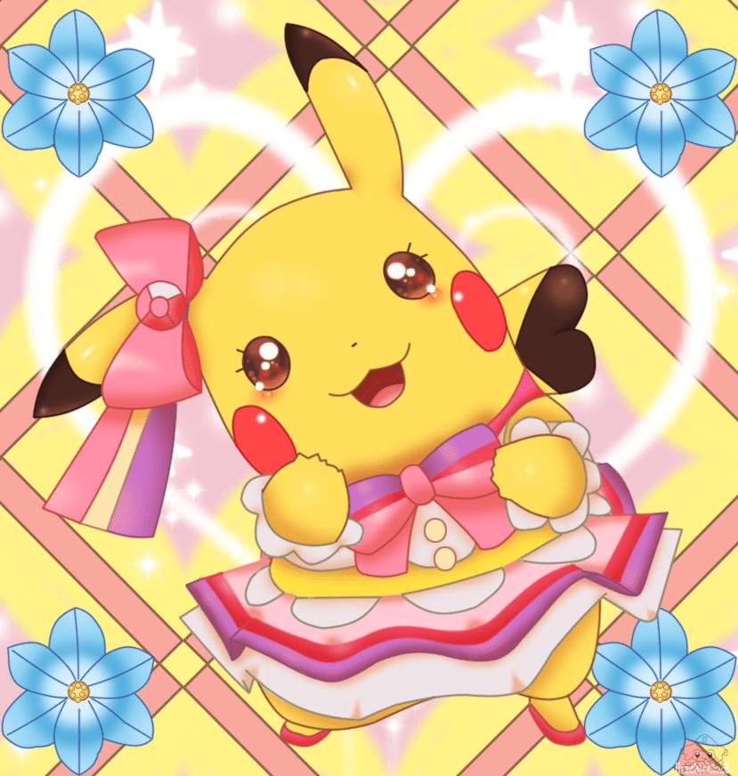 este es mi pose favorita que adopta pikachu pop star en el