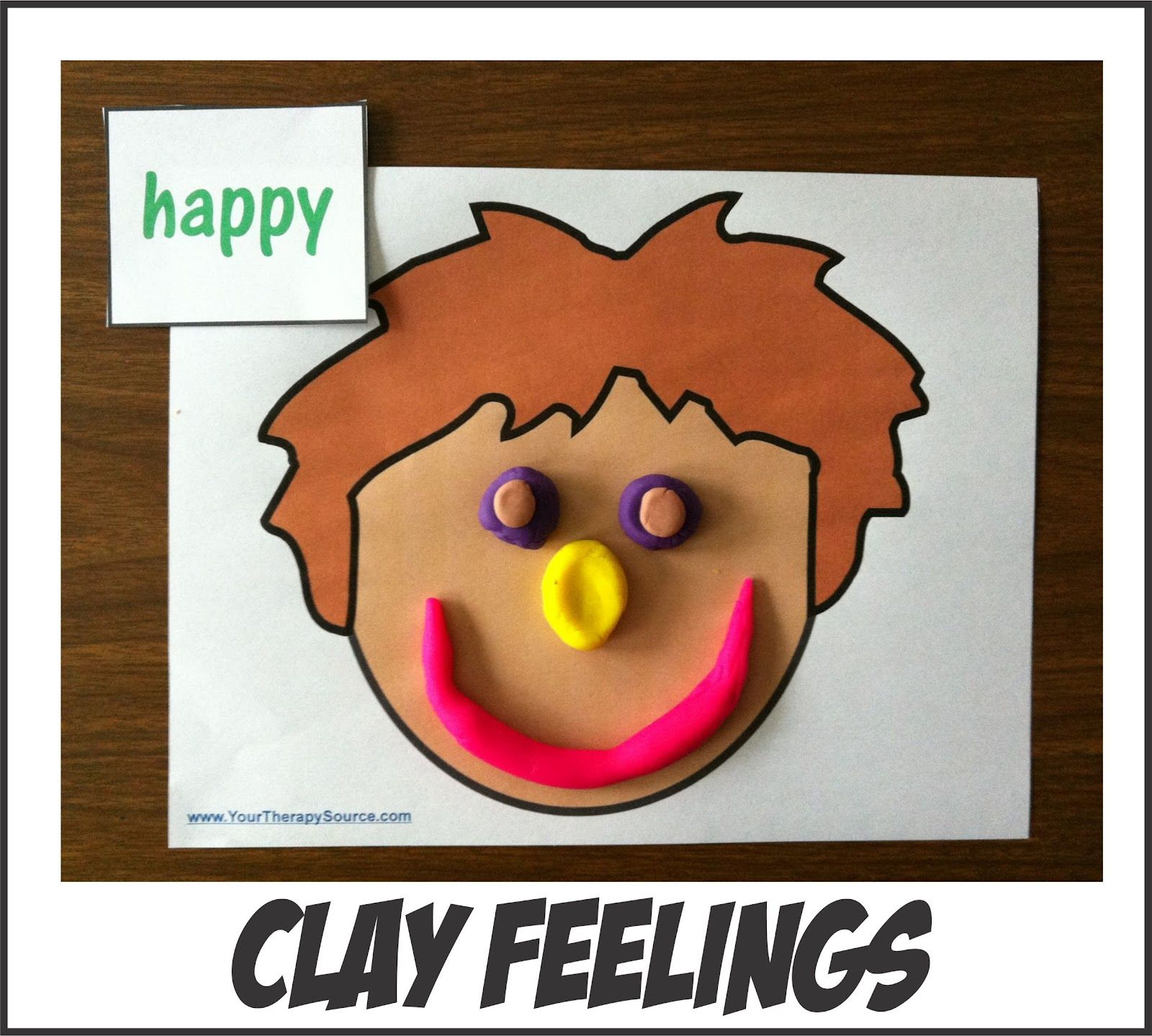Clay Faces With Free Printables