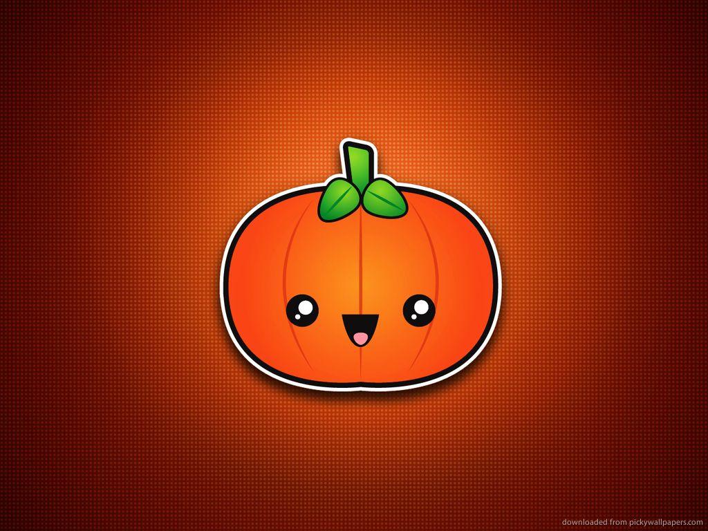 cute pumpkin Minimal/Simple Halloween Wallpapers