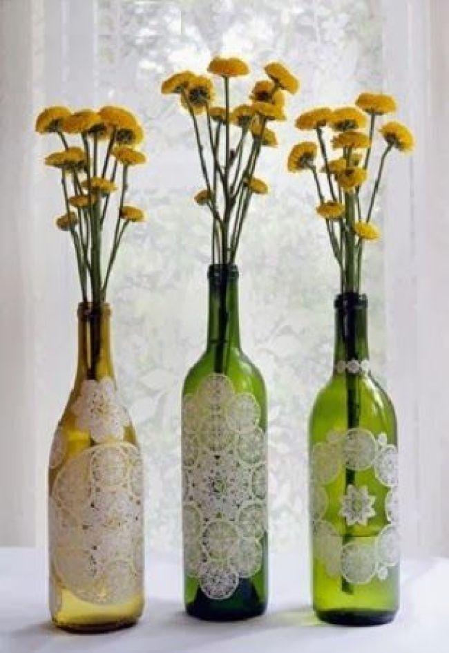 Resultado de imagen de botella reciclada florero
