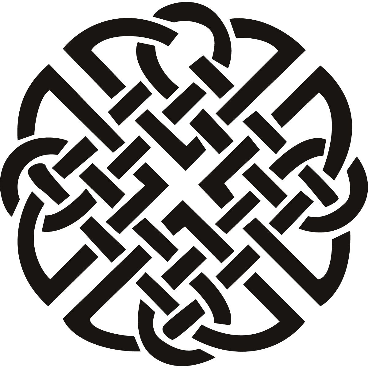 Knot Celtic Print Wall Art Sticker Wall Decal Transfers