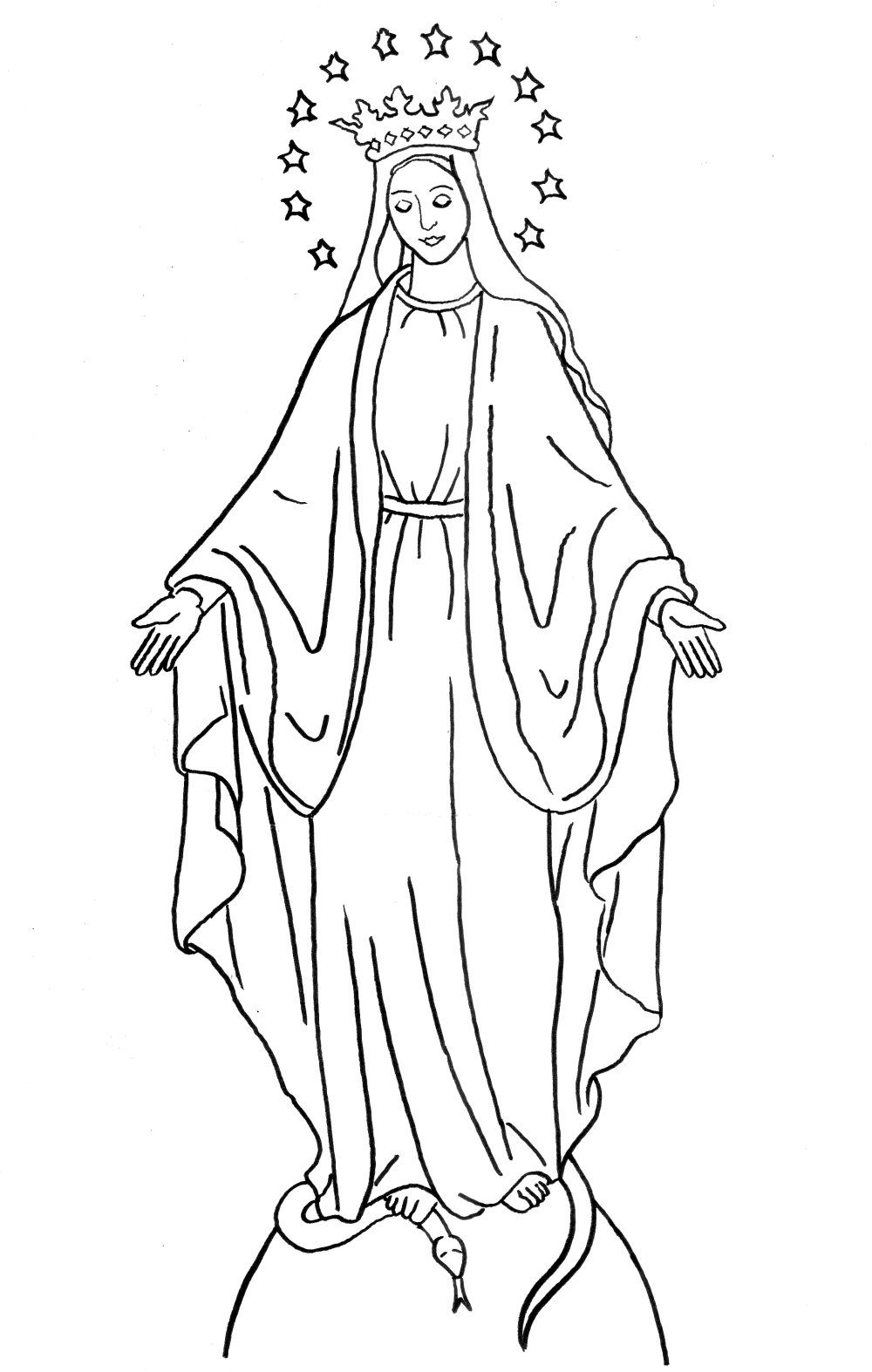 Coloring Page Immaculate Conception Feast of the