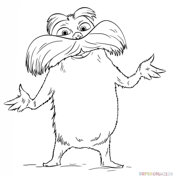 How to draw the Lorax Step by step Drawing tutorials