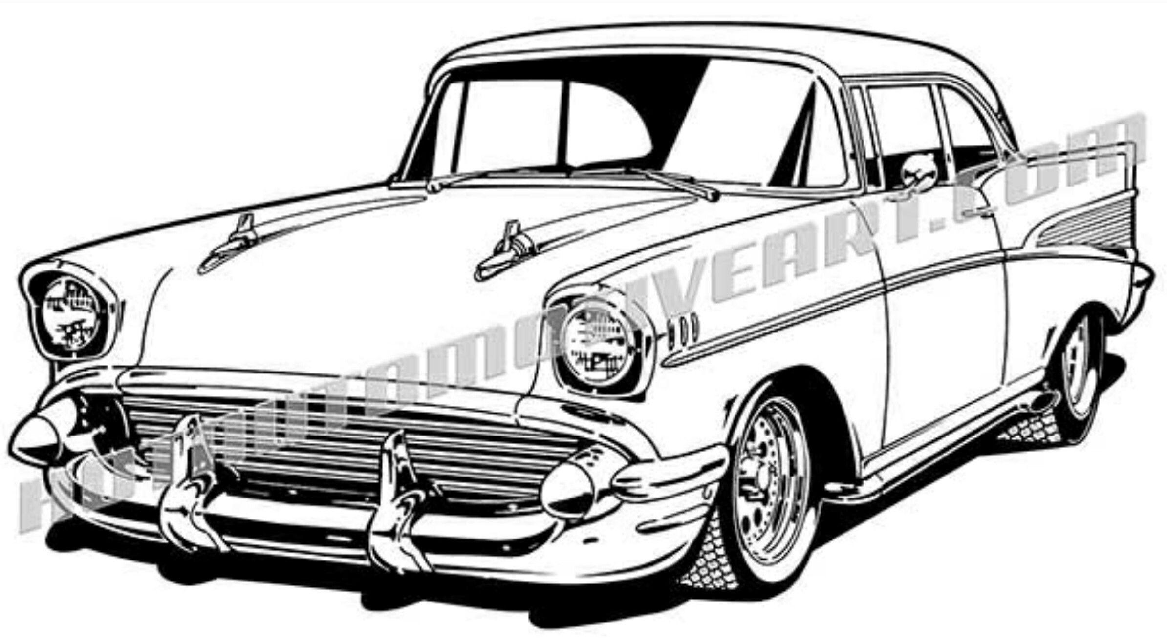 Chevy Bel Air 4 Door Svg