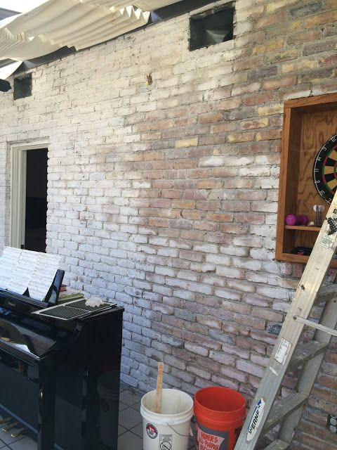 Painting Brick With Lime Diy Limewash Tutorial