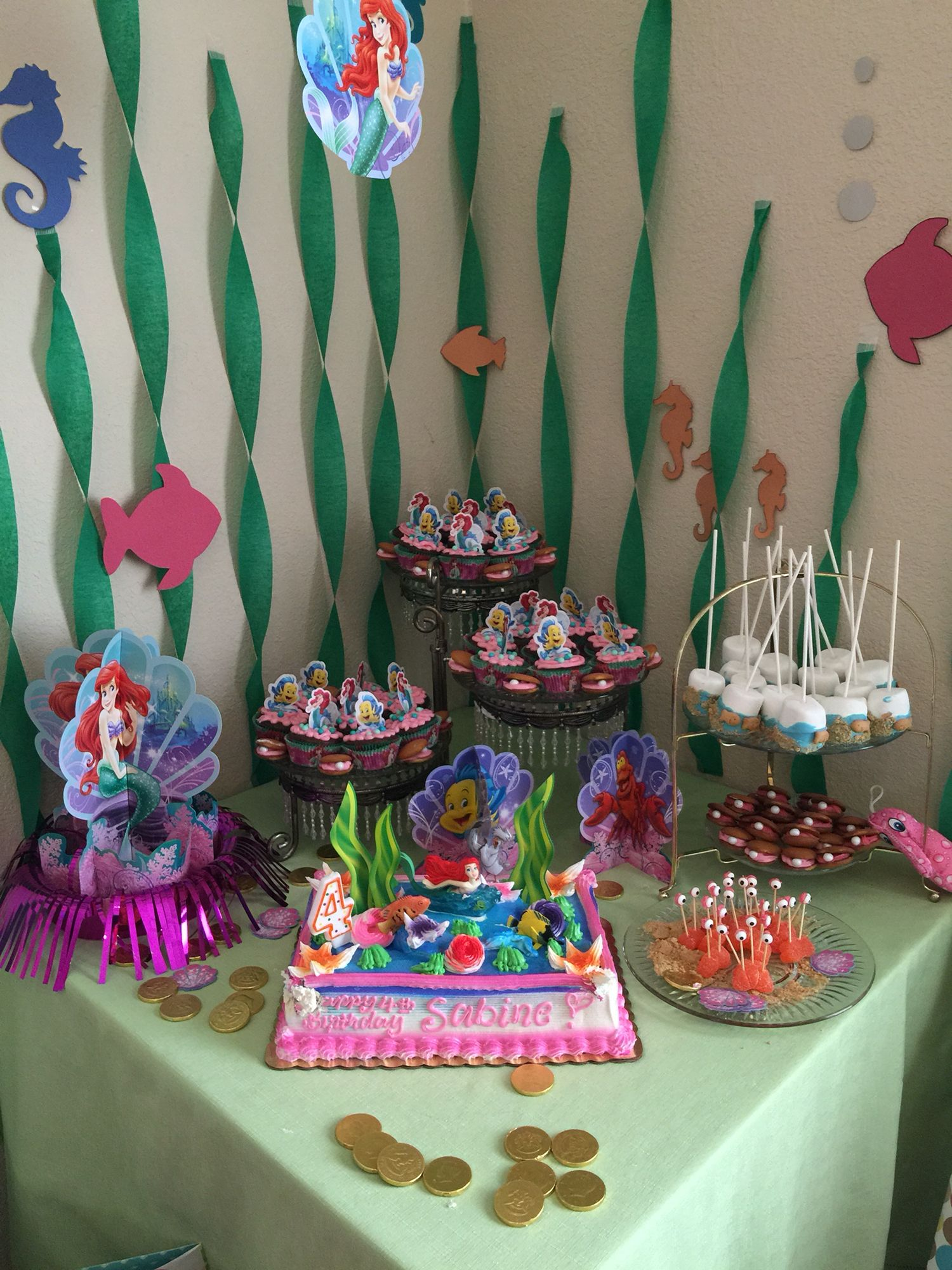 Little Mermaid Theme Kids Birthday Party