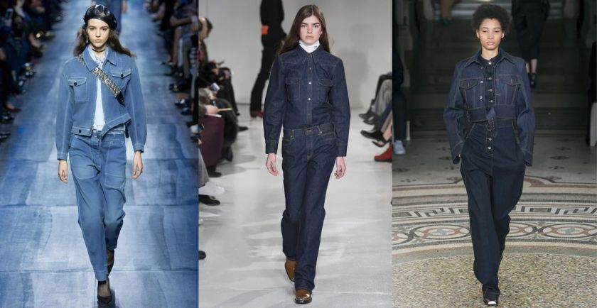 Image result for fall trend double denim