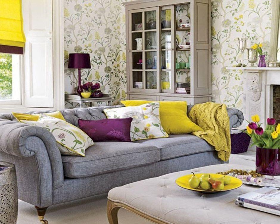 Contemporary Purple And Grey Living Room Ideas Novocom Top