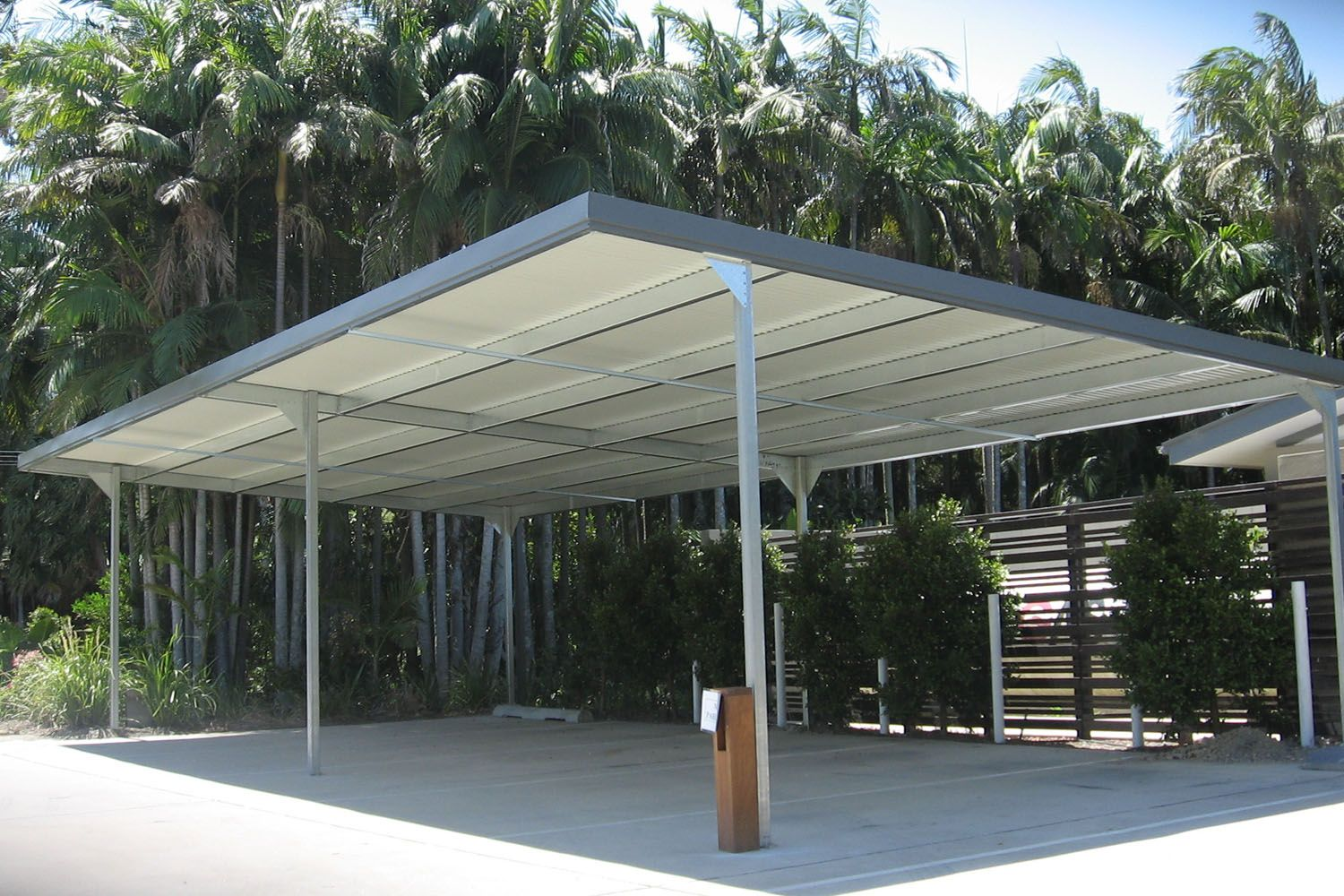 Flat climax multi housing character carports have been