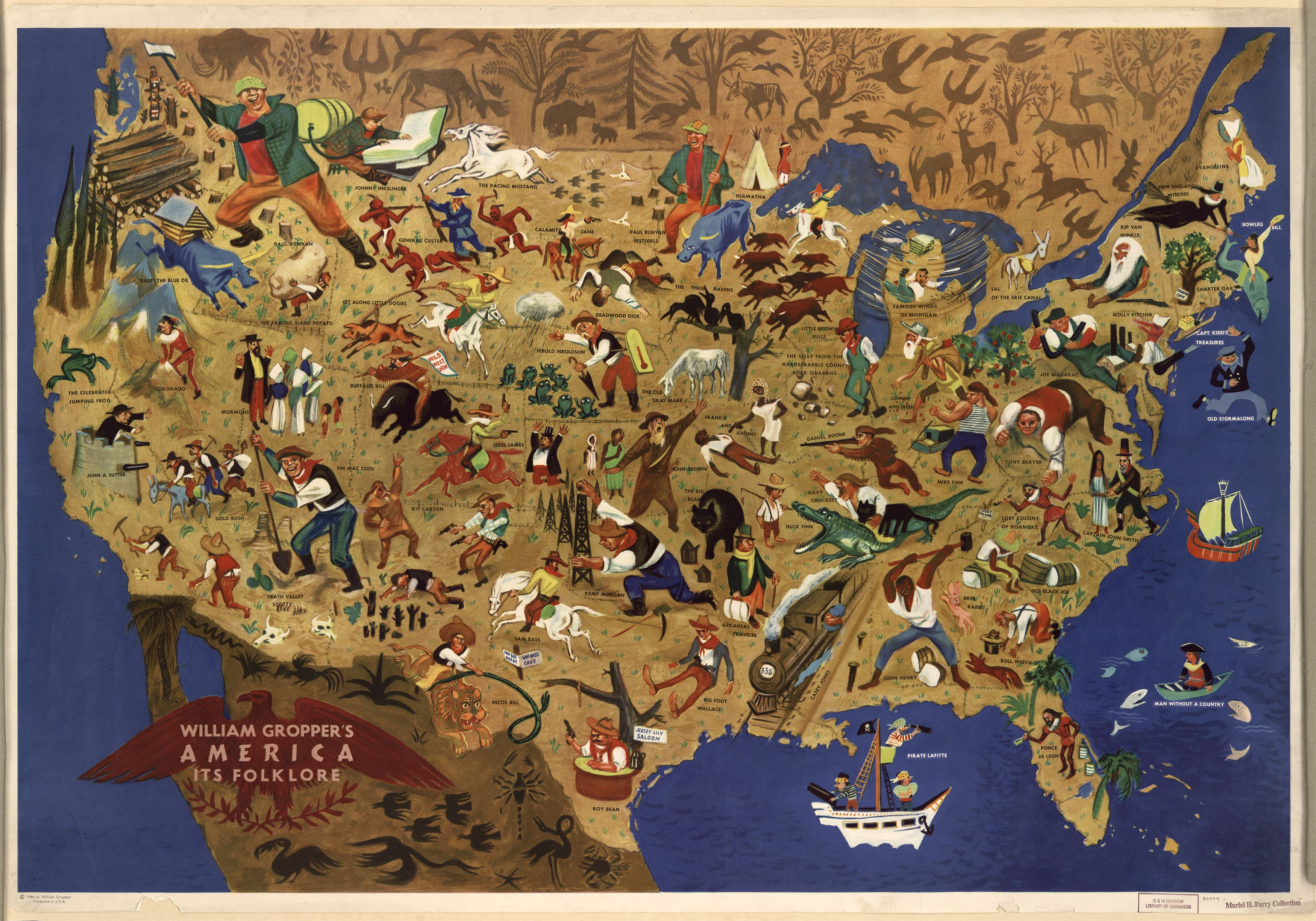 All Of America S Folk Heroes In One Map