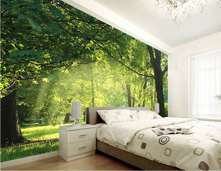 custom 3d wallpaper idyllic natural scenery and flowers living