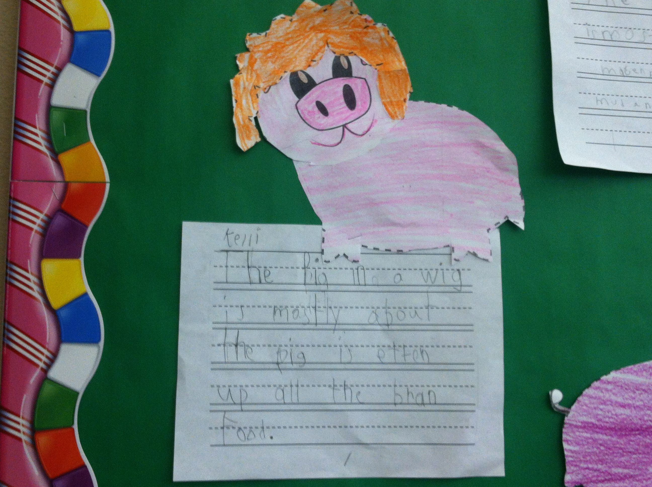 Fun Reading Street Pig In A Wig Story Craft Great For