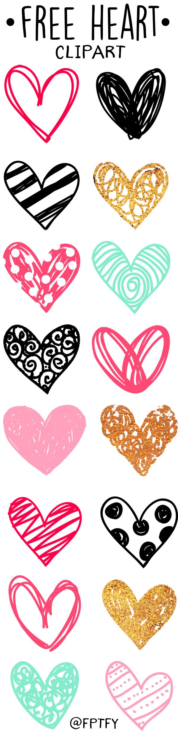 Free Doodle Heart Clip Art Clip art, Doodles and Cricut