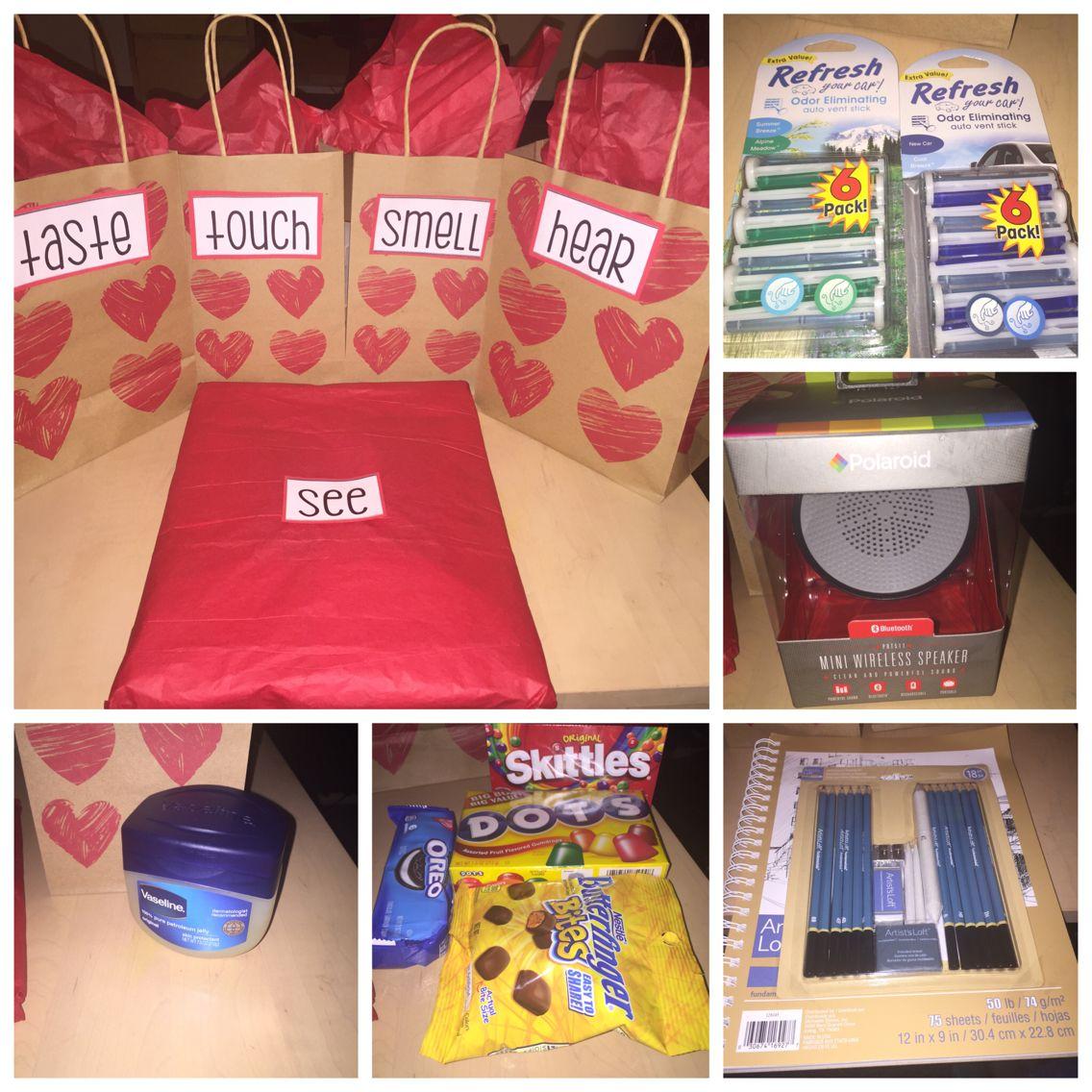 5 Senses Gift Love Day Ideas Pinterest Gift Craft