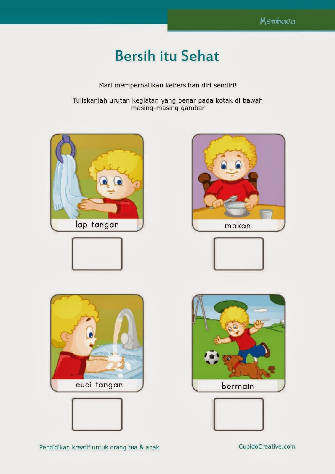 Gambar Anak Cuci Tangan