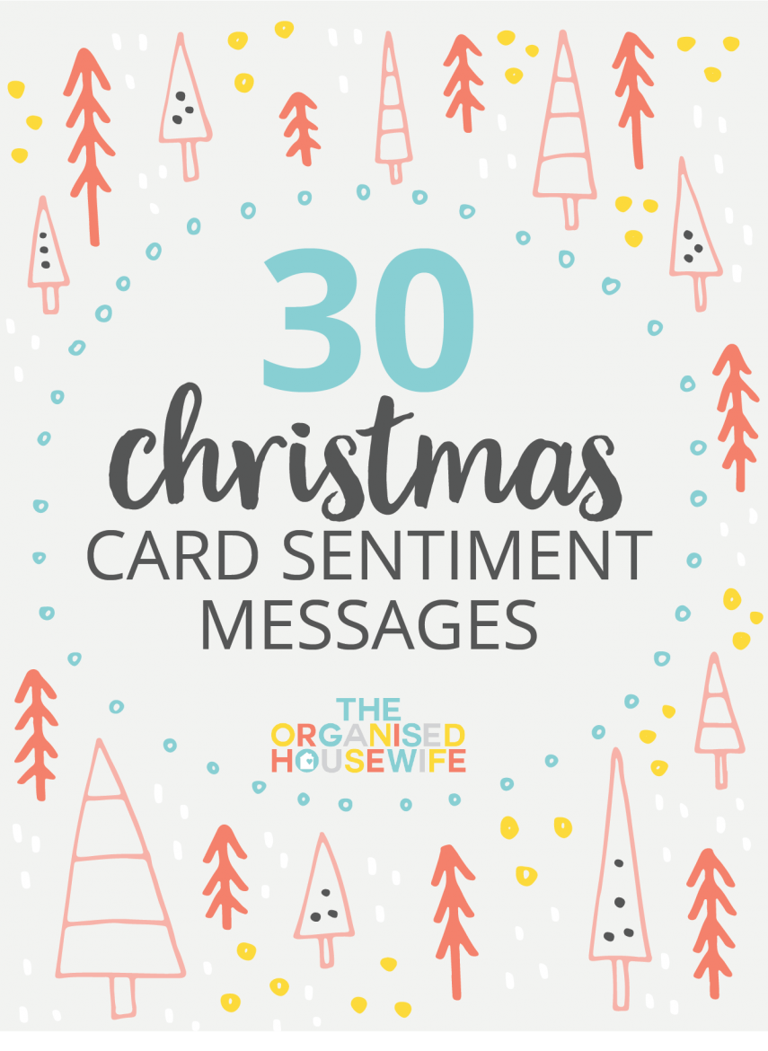30+ CHRISTMAS CARD SENTIMENT MESSAGES Card sentiments