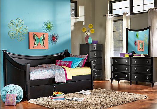 shop for a jaclyn place black 3 pc daybed bedroom at rooms to go