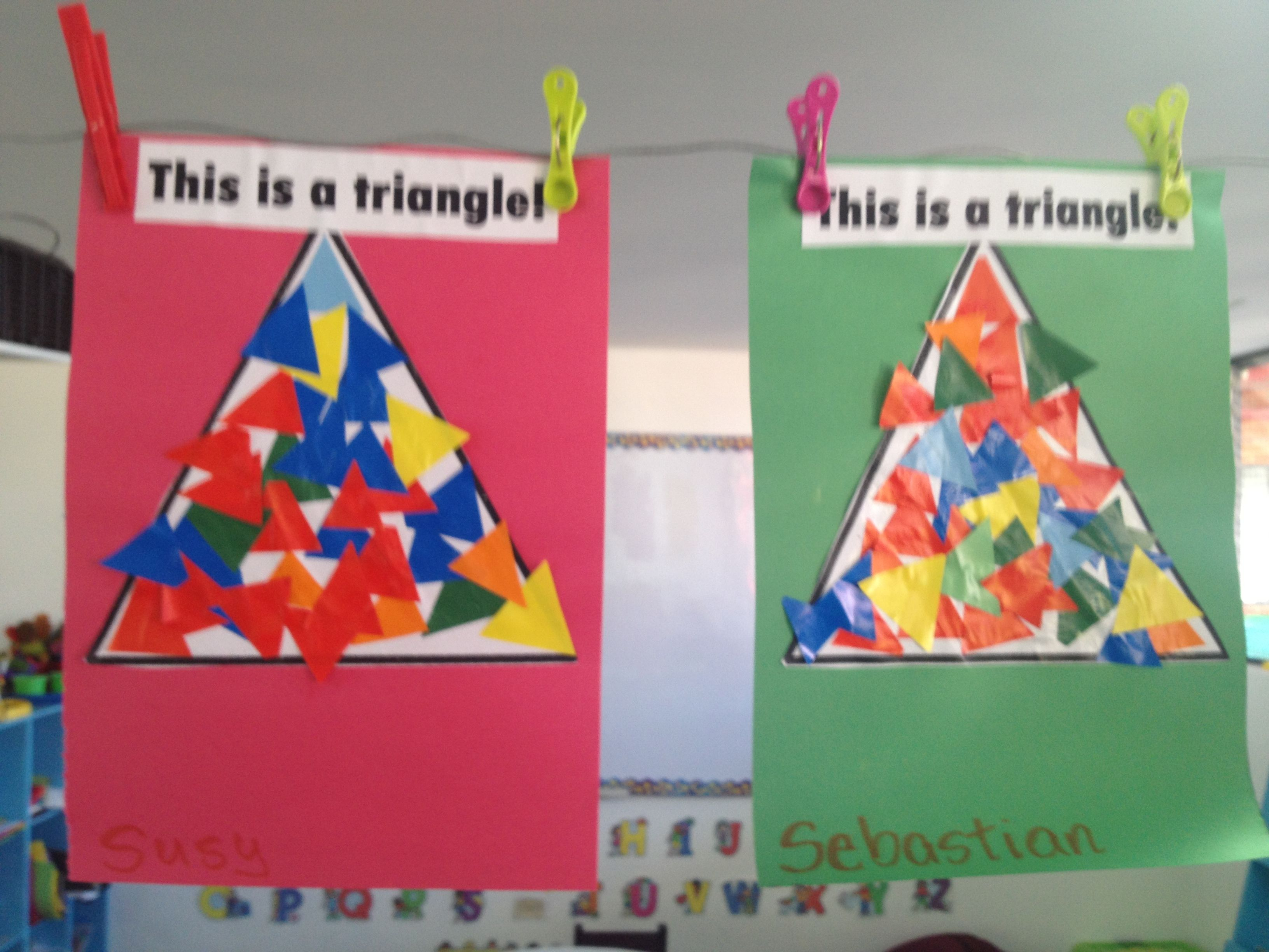 Students Cut Pieces Of Geometric Shapes From Tissue Paper
