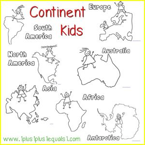 Continents Coloring Pages Coloring Page For Kids - Traceable world map