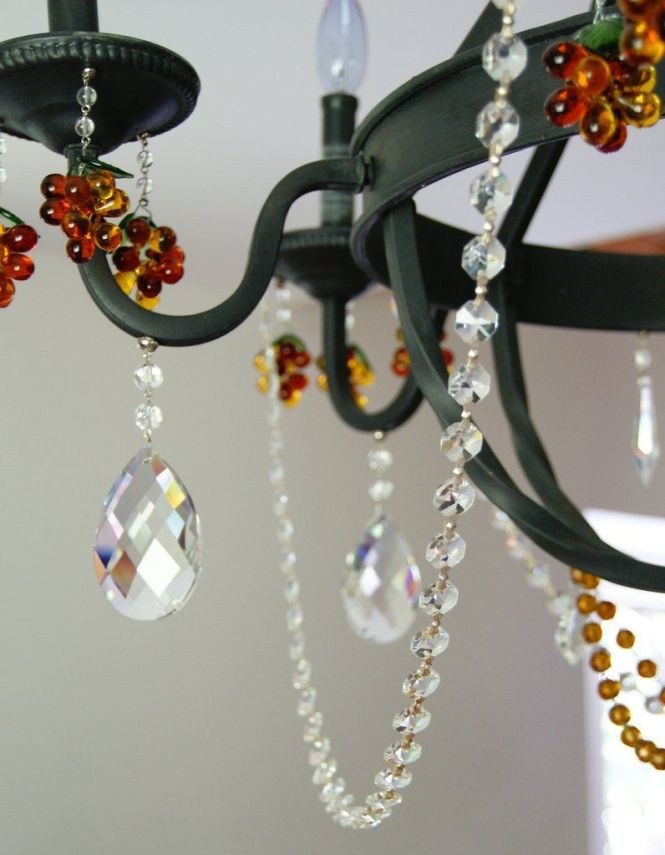 Decorating With Magnetic Garland Transform A Bland Wrought Chandelier Into Crystal In Seconds