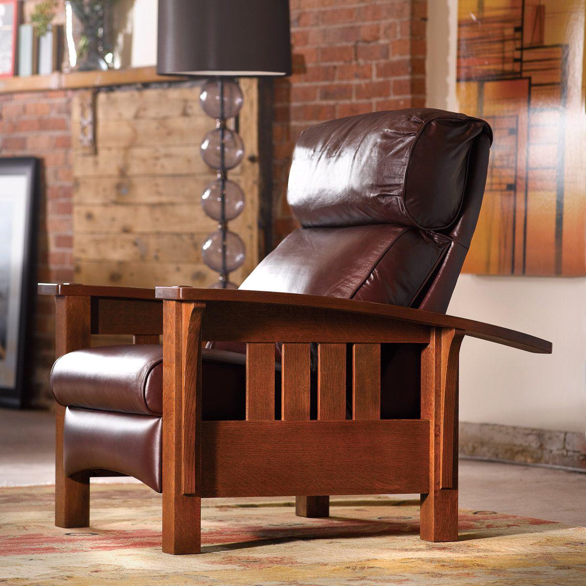 Stickley Morris Recliner Living in Leather Pinterest