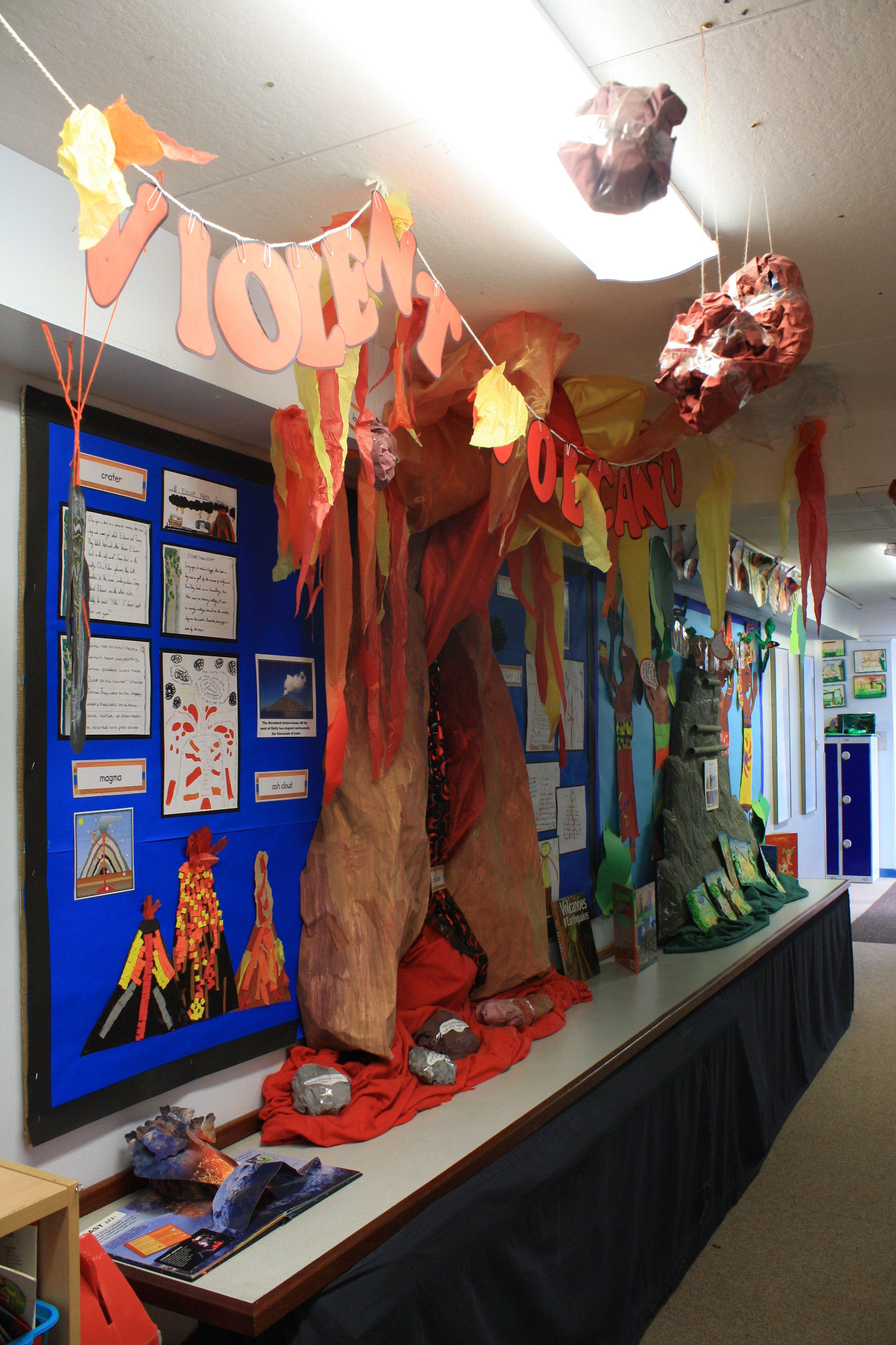 Year 3 Volcanoes Corridor 3d Display