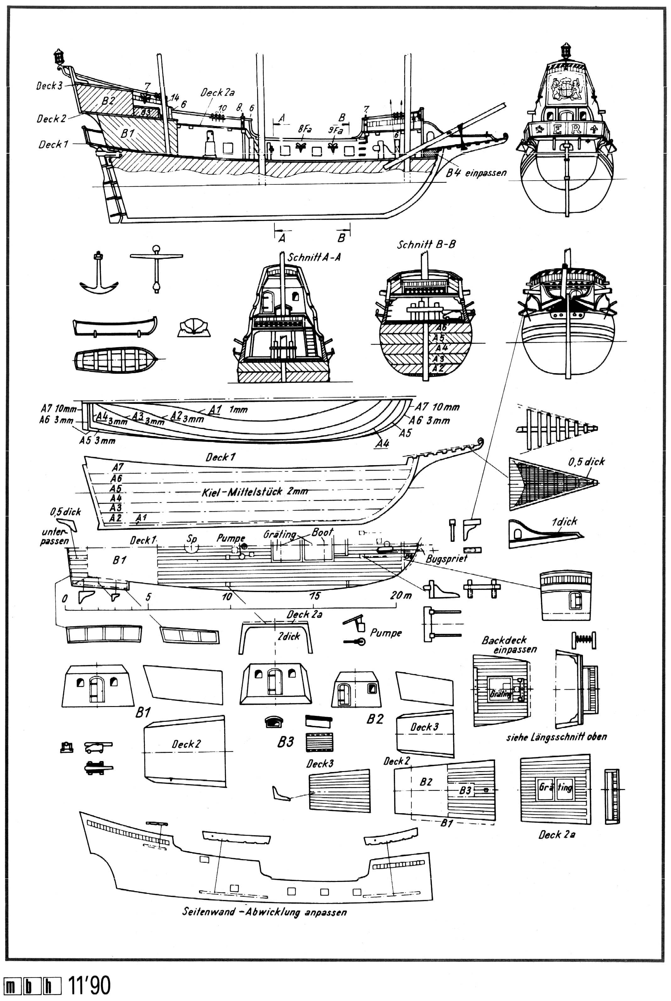 Pirate Ship Blueprints