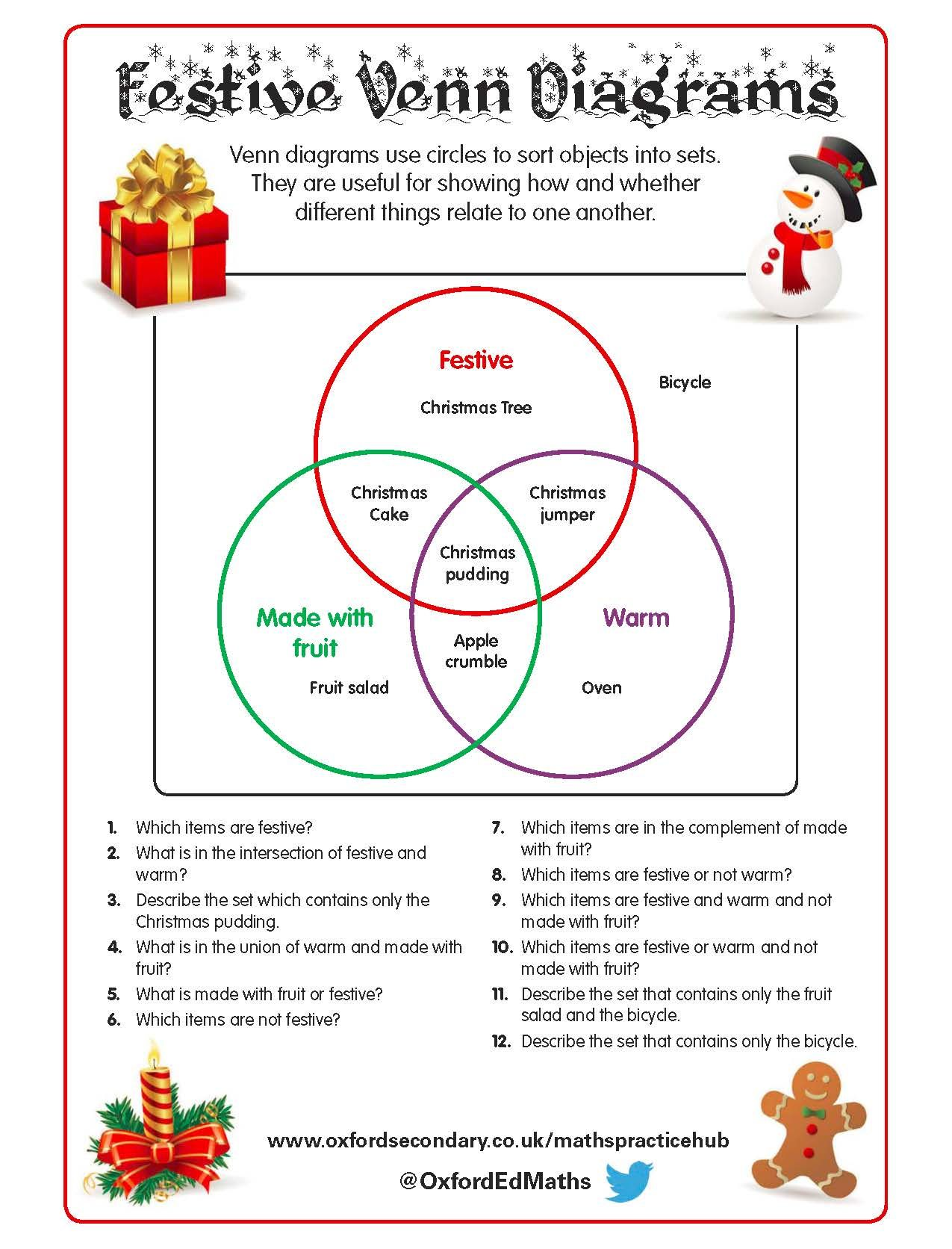 Christmas Worksheet Oxford