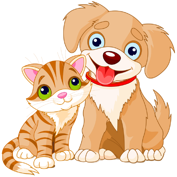 Pup and Cat Pup, Cat and Clip art