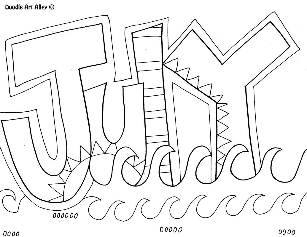 12 Months Of The Year Coloring Pages