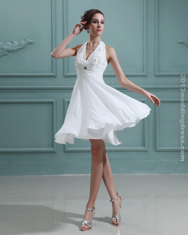 Halter aline, short Wedding Dress Inspiration