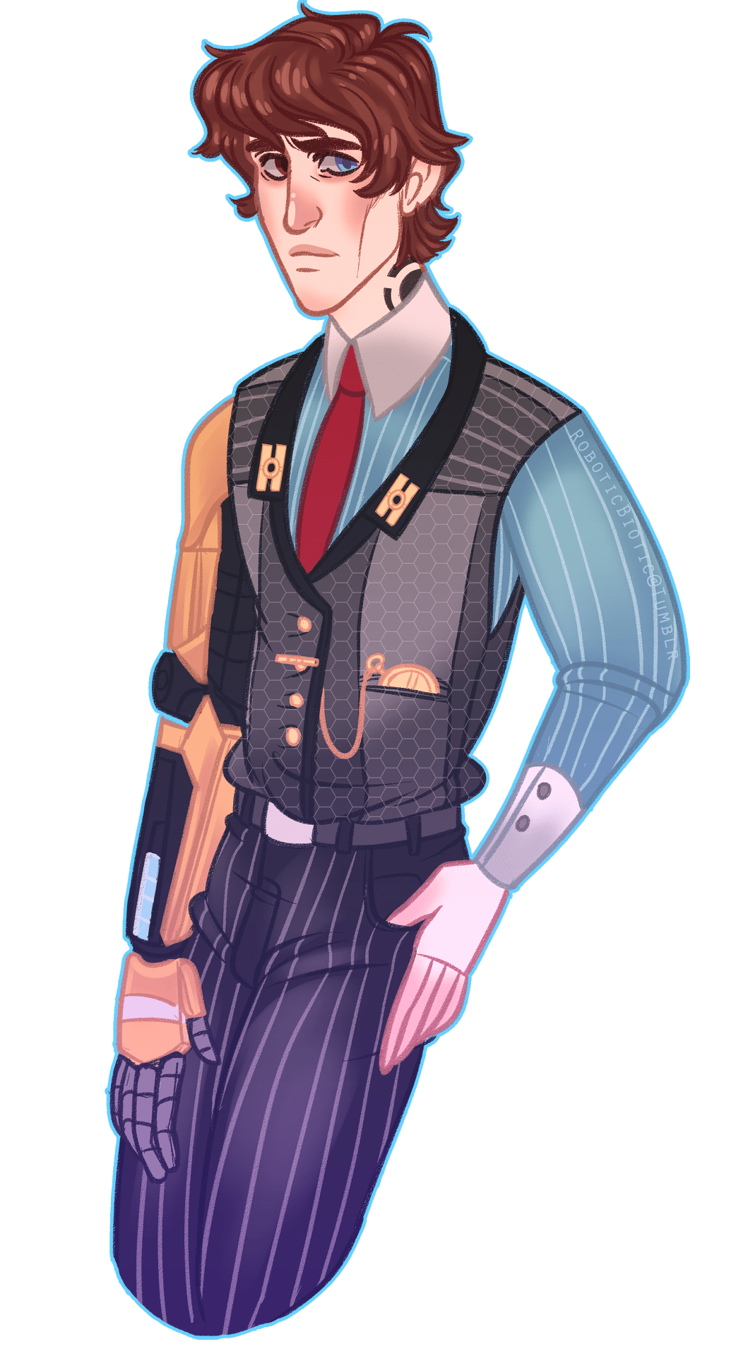 "roboticbiotic "" But what if… Rhys had some actual style"