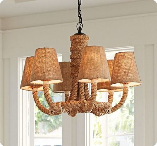 Rope Chandelier For A Nautical Nursery