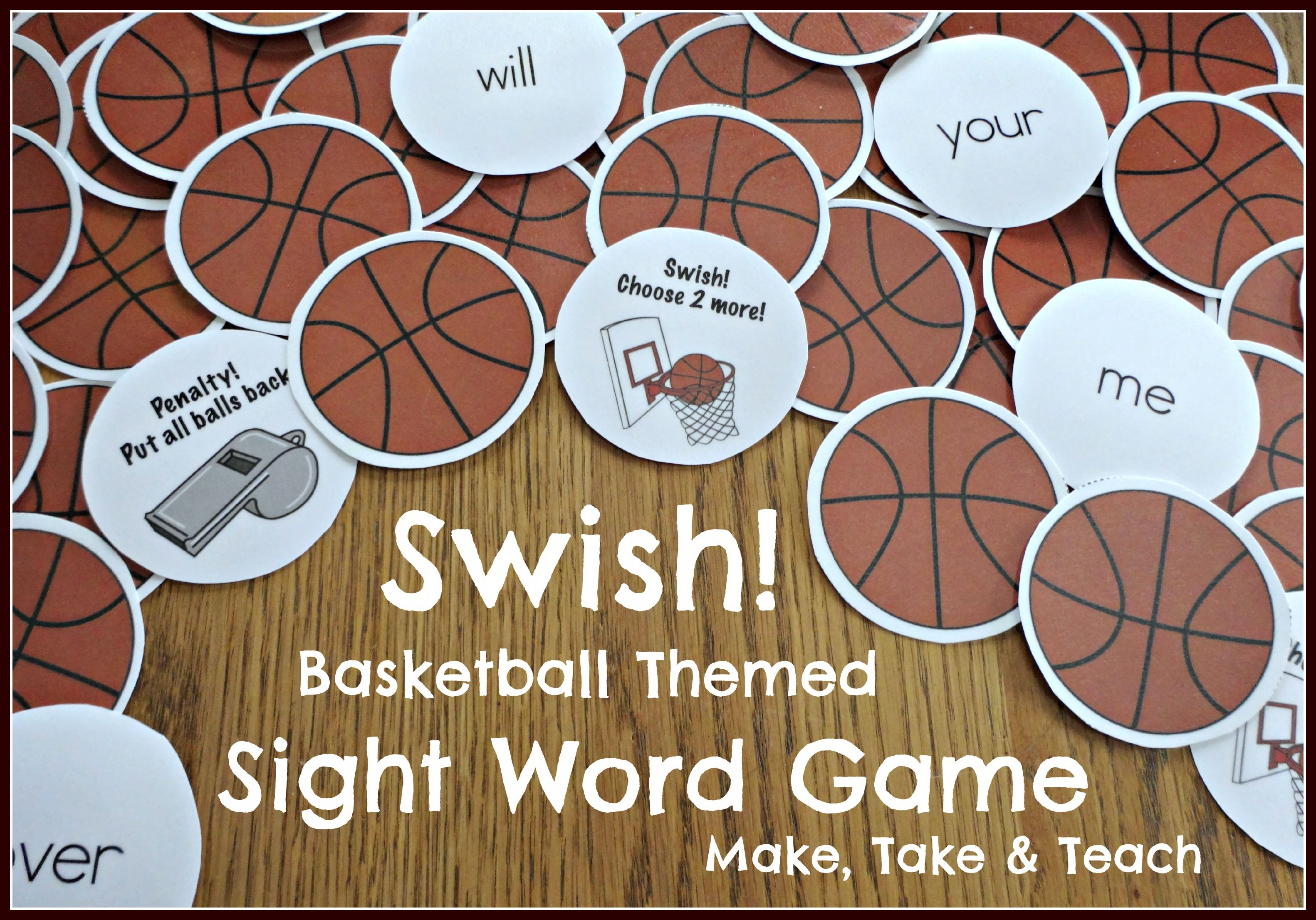 Fun Basketball Themed Activity For Learning And Practicing