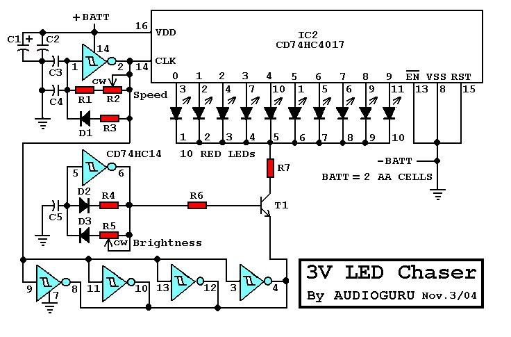 General There Are Many 9V Chaser Circuits That Seem To