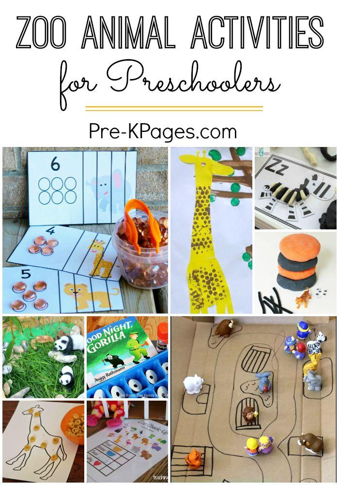 Zoo Activities for Preschoolers Zoo activities, Learning