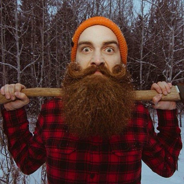 Big Red Beard Mustache Styled Ginger Lumberjack Beards