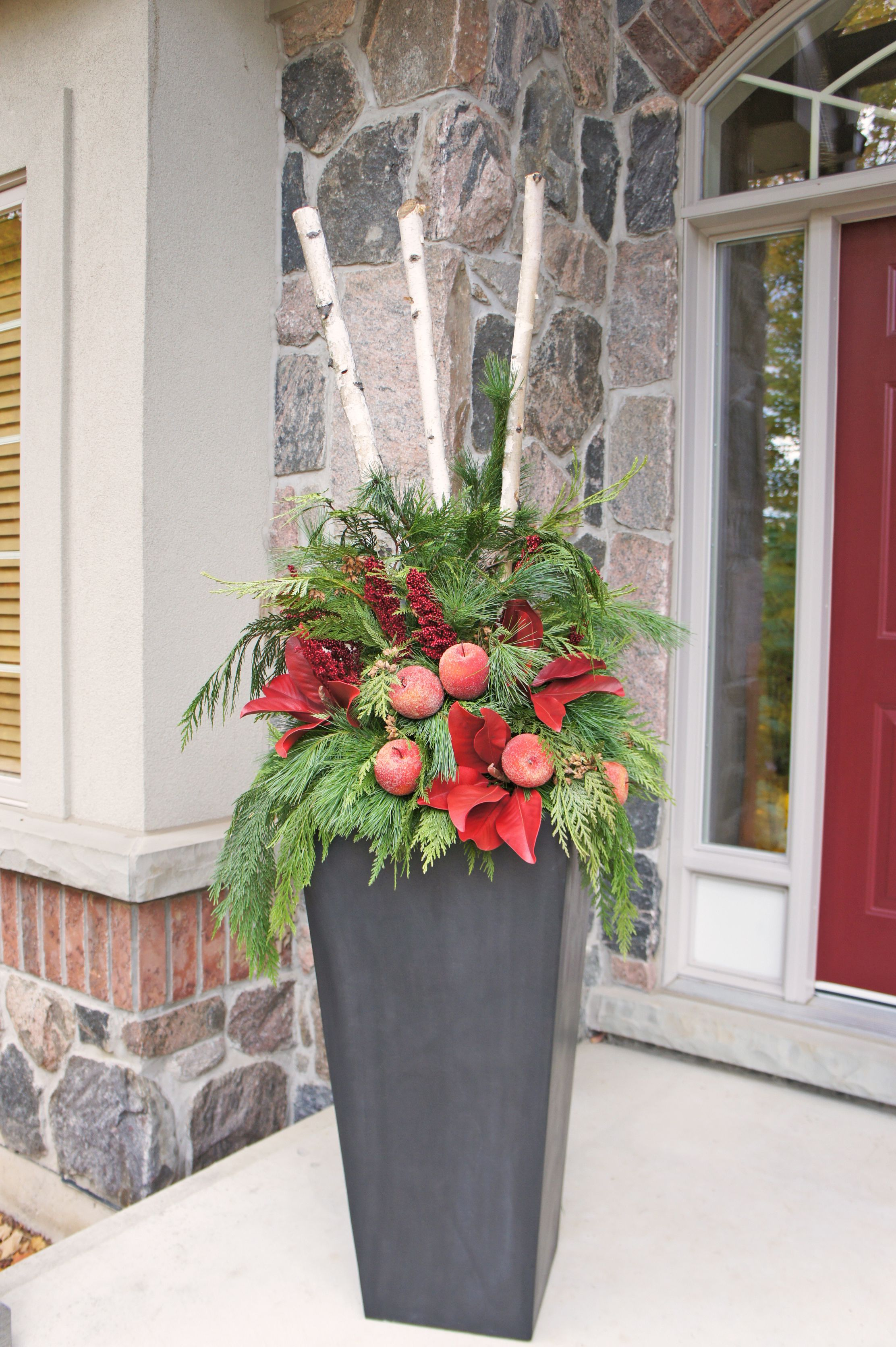 Outdoor Christmas Planterperfect for zinc planters