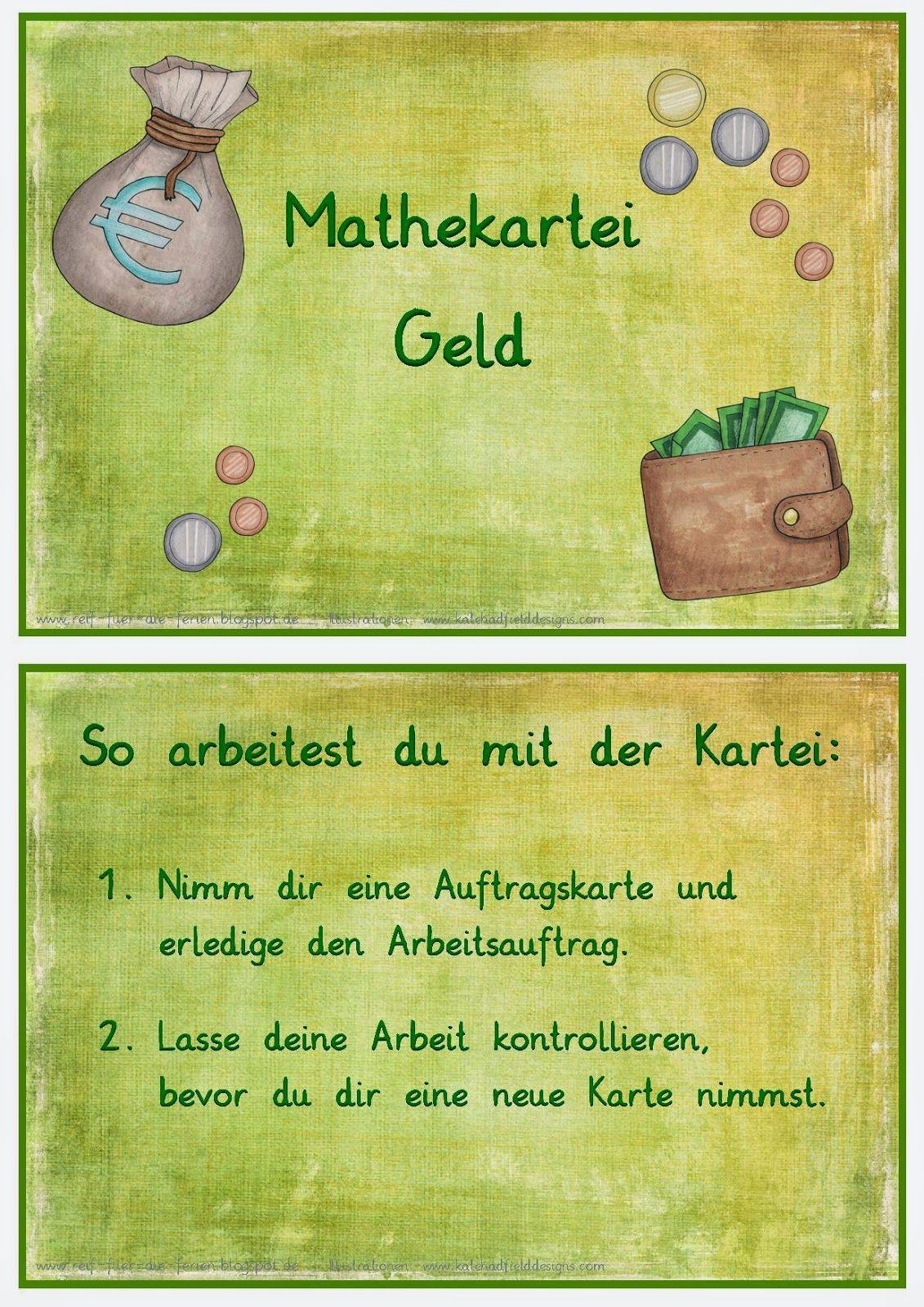 Mathe Kartei Geld