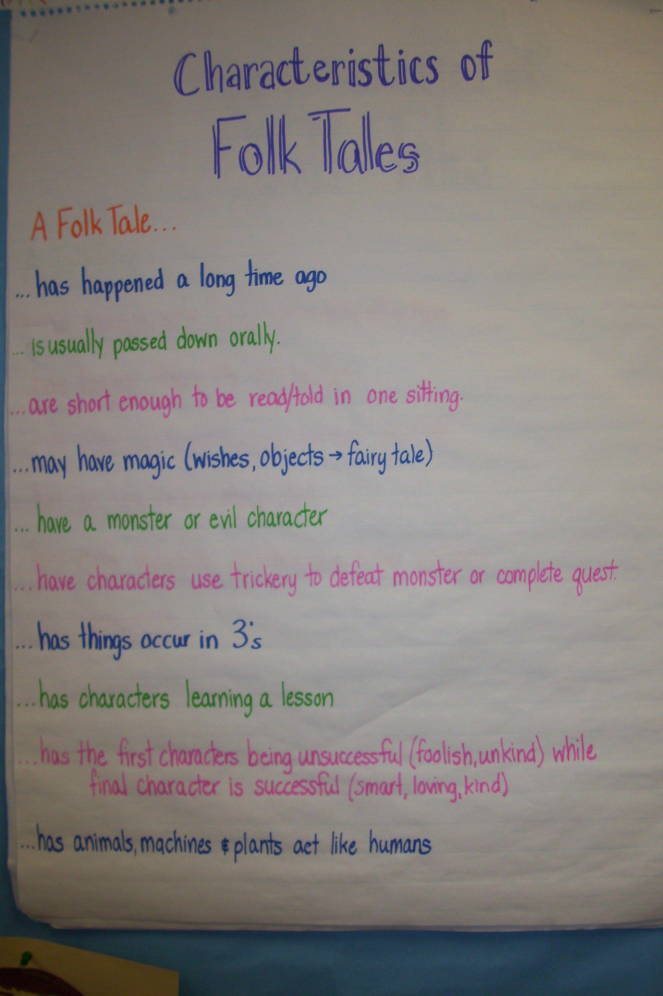 Characteristics Of Folk Tales