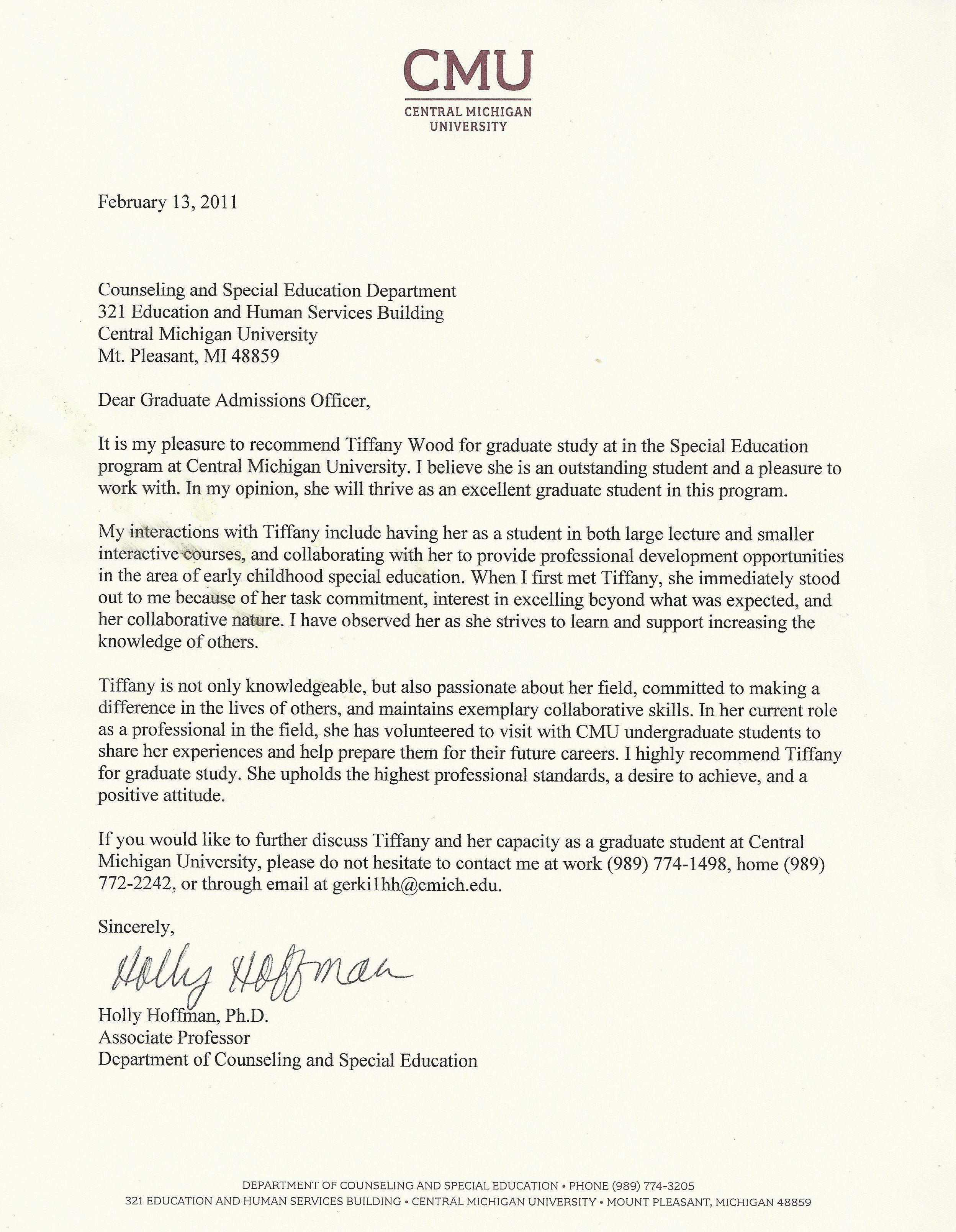Masters Program Masters Program Letters Of