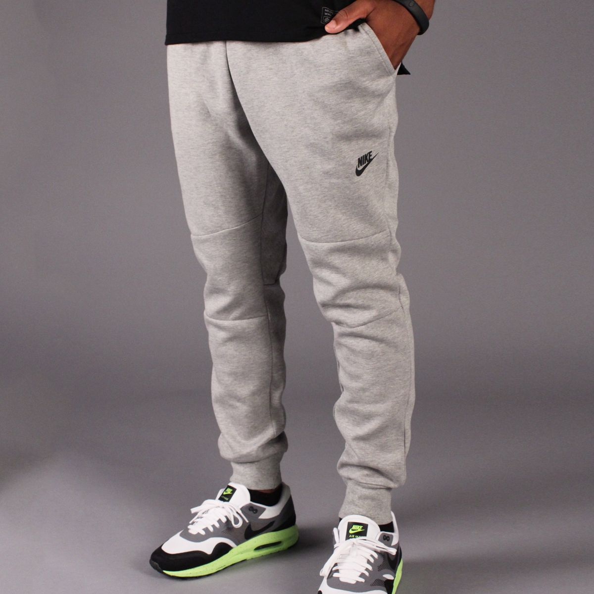 Nike Tech Fleece Pant 1MM (Dark Heather Grey/Black