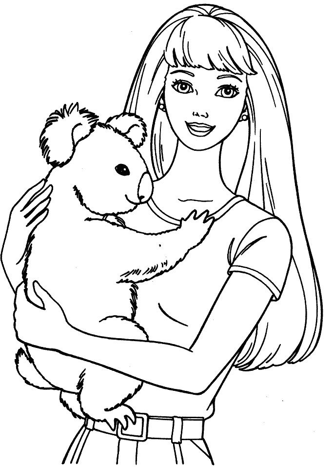 koalas coloring pages and barbie on pinterest