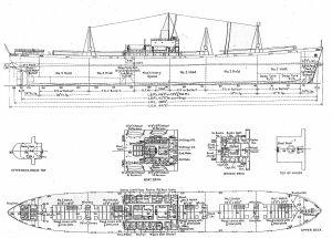 Liberty ship diagram   Steamships Ocean Going 19001943