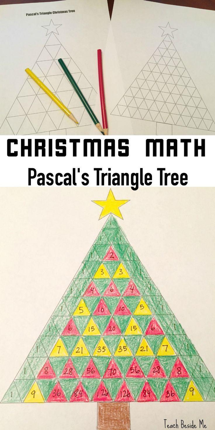 Pascal's Triangle Christmas Tree Math Christmas math