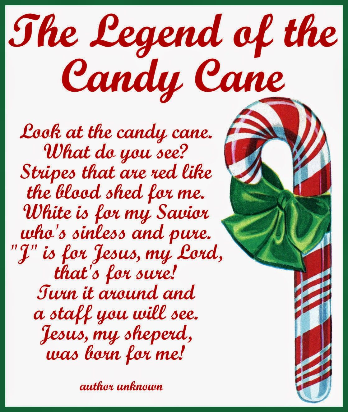 Craftymumz Creations Candy Cane Legend Card Printable