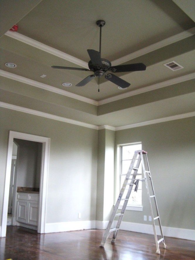 Typical Crown Moulding Detail In A Master Bedroom With Double Tray Ceiling