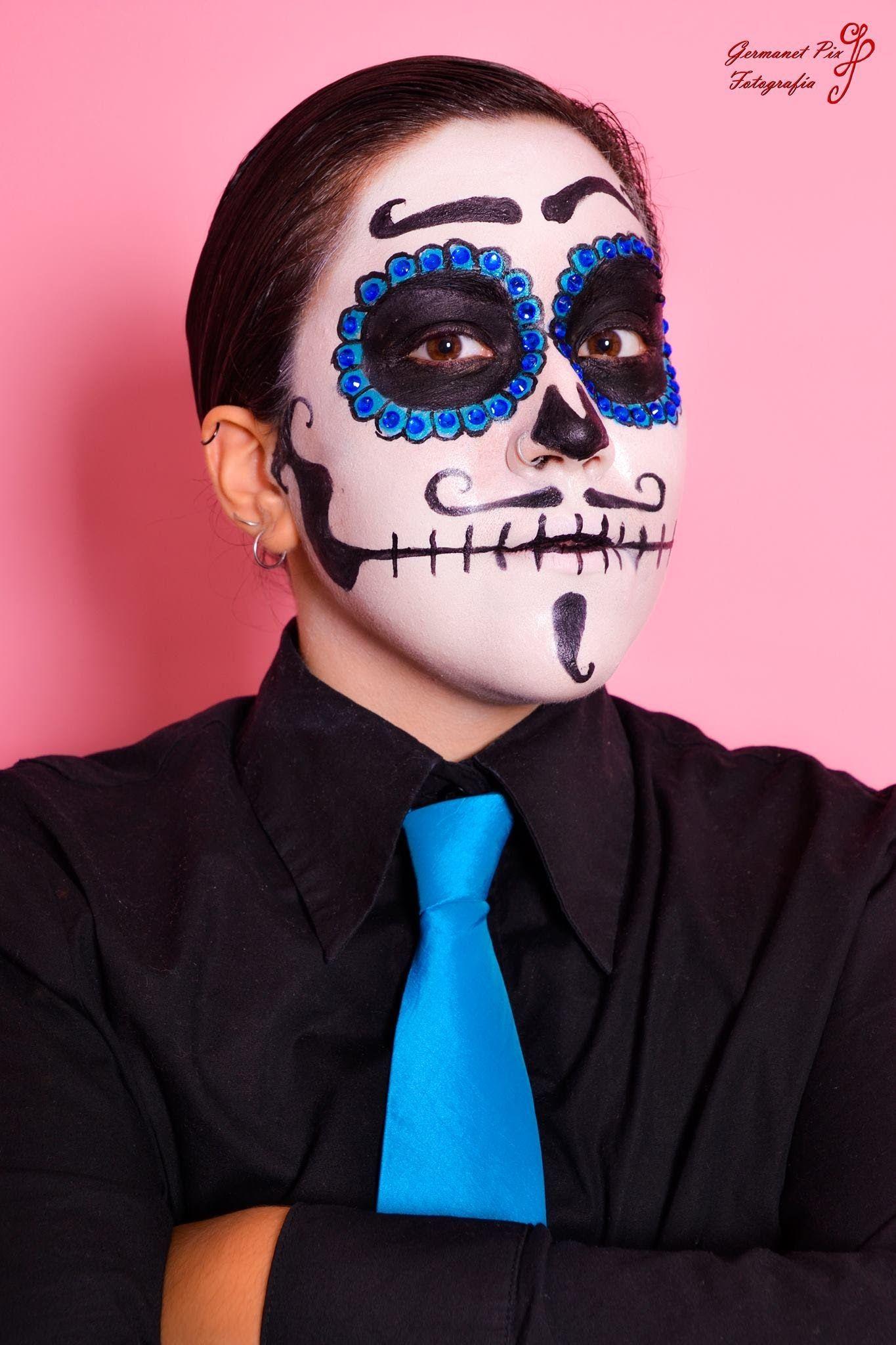 Maquillaje Disfraces 6 Catrina Hombre (Especial Halloween