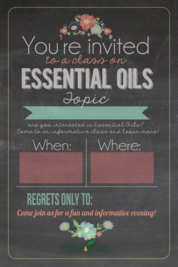 4x6 Young Living Class Invitation INSTANT DOWNLOAD